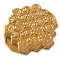Backform Bienenwaben / Gold - Nordic Ware