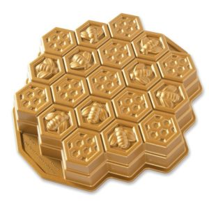 Backform Bienenwaben / Gold - Nordic Ware