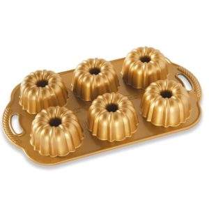 Backform Anniversary Bundtlette Pan / Gold - Nordic Ware