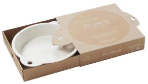 Kuchenform rund creme, aus französischem Porzellan, 33 x 27 x 5,7 cm von Revol