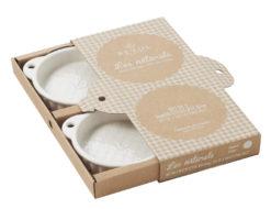 Tartelette-Form creme 2er-Set 16 x 13 x 2,6 cm aus französischem Porzellan von Revol
