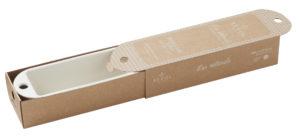 Königskuchen- Form creme, aus französischem Porzellan, 31 x 11 x 7 cm von Revol