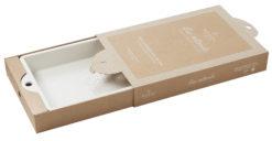 Kuchenform rechteckig creme, aus französischem Porzellan, 42,5 x 27,3 x 5,7 cm von Revol