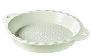 Kuchenbackform rund creme 25,5 x 4,5 cm, aus französischem Porzellan von Revol