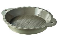 Kuchenbackform rund sesamgrau 25,5 x 4,5 cm aus französischem Porzellan von Revol