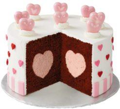 Backform für Torte mit Herzfüllung