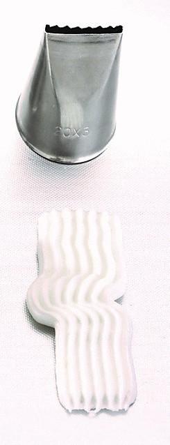 Sternbandtülle 20 x 3 mm - Edelstahl