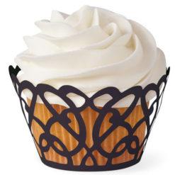 Cupcake Wrapper - Schwarze Spitze
