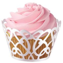 Cupcake Wrapper - Weiße Spitze