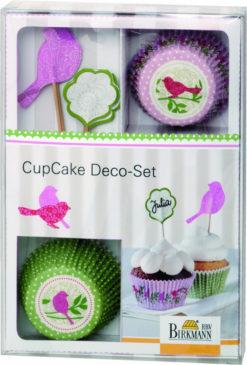 CupCake Deko-Set - Vogel