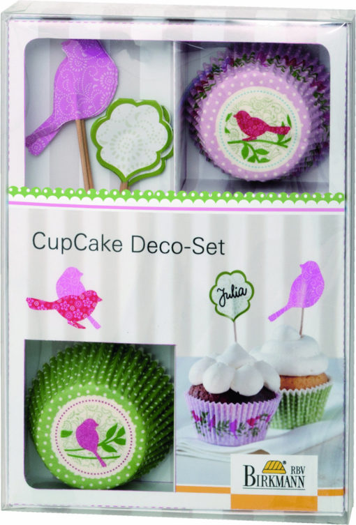 CupCake Deko-Set - Vogel