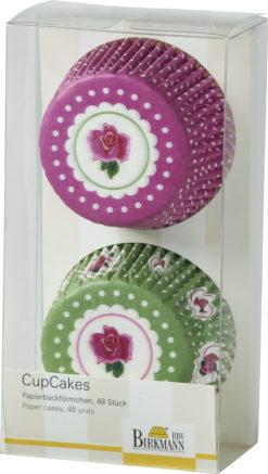 Papierbackförmchen CupCakes - Rose