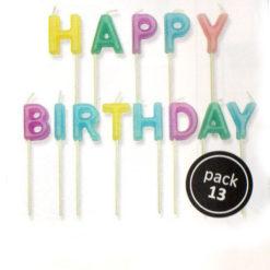 Kerzen Motiv Happy Birthday